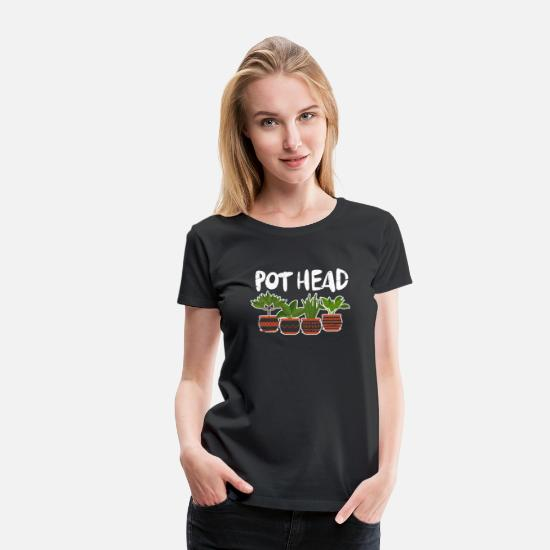 Garden T-Shirts - Pot Head Gardening - Women's Premium T-Shirt black