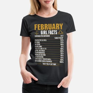 Libra Woman February Libra Girl Facts Tshirt - Women's Premium T-Shirt