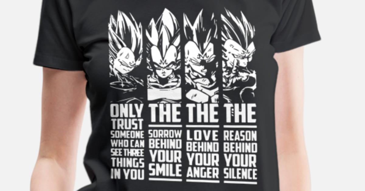 859c4b74 Vegeta Quote Super Saiyan God Dragon Ball Vegeta T Women's Premium T-Shirt  | Spreadshirt