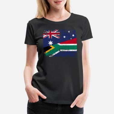 Africa AUSTRALIA SOUTH AFRICA FLAG - Half South African - Women's Premium T-Shirt