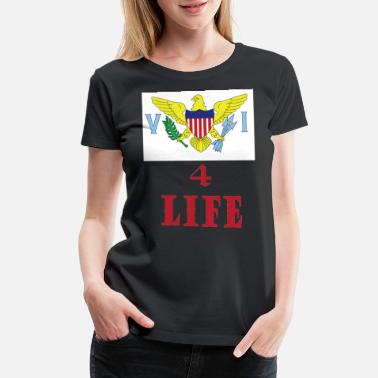 Virgin Islands VI4Life T shirt design - Women's Premium T-Shirt