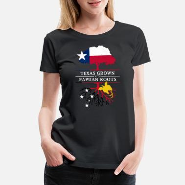 Port Moresby Texan Grown with Papuan Roots - Women's Premium T-Shirt
