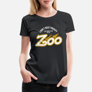 Giraffes Zoo Keeper Lover - Women's Premium T-Shirt