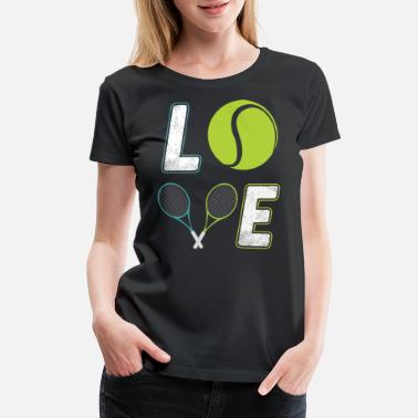 tenis loved game t shirts - Women's Premium T-Shirt