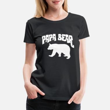 2d5b1bcd Father And Son Matching Papa Bear Baby Bear Cute Funny Slogan Fathers Dad -  Women&#