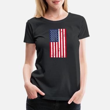America 4th Of July American Flag - Women's Premium T-Shirt