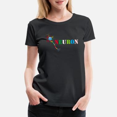 Neurobiology Beautiful Brain Neuron colourful - Women's Premium T-Shirt