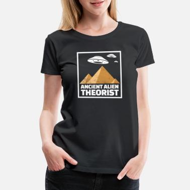 Ancient Ancient Alien Theorist Ufo Illuminati Secret Gift - Women's Premium T-Shirt