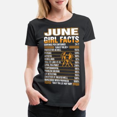 June June Girl Facts Gemini - Women's Premium T-Shirt