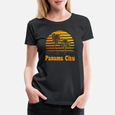 Panama Panama City Florida Sunset Palm Trees - Women's Premium T-Shirt