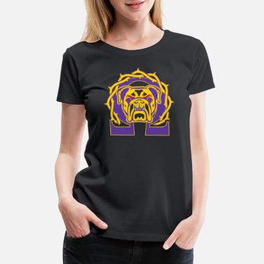 Omega Pearl Men's Omega Que Dawg Psi Phi Purple Gold Fraternity - Women's Premium T-Shirt