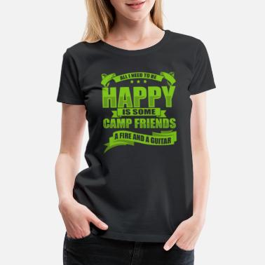 Starry Sky All I Need To Be Happy Is Some Camp Friends - Women's Premium T-Shirt