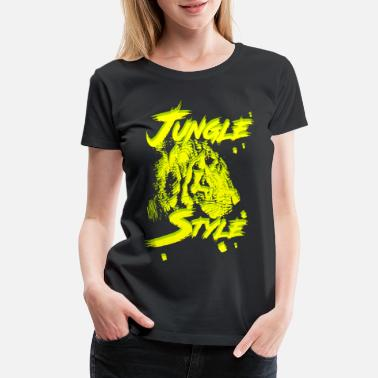 Modern Dance Jungle Style Tiger Wildcat retro modern Wildkatze - Women's Premium T-Shirt