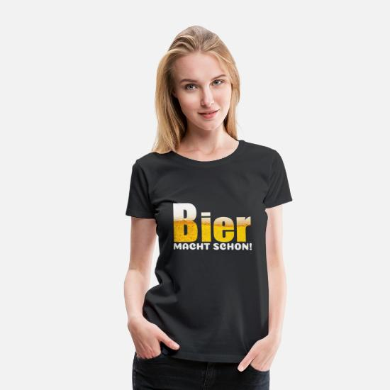 Beer T-Shirts - Beer Nice Solution Funny Foam Drink Gift - Women's Premium T-Shirt black