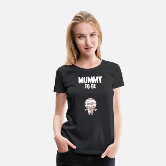 Announcement T-Shirts - Mummy To Be Halloween Pregnancy Announcement - Women's Premium T-Shirt black