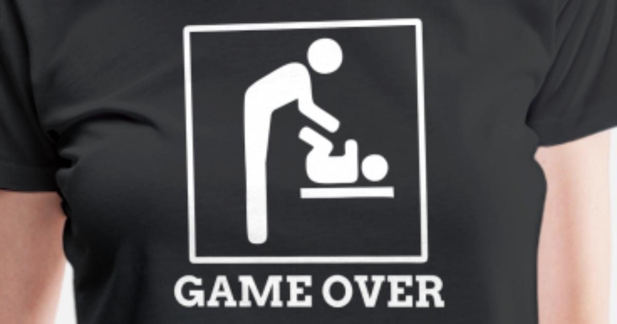 3127976b Funny Game Over For New Dad Father's Day Gift Women's Premium T-Shirt |  Spreadshirt