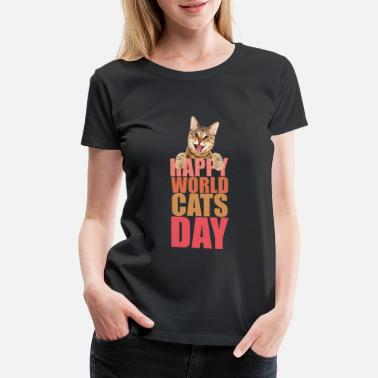 Karate Happy World Cats Day - Women's Premium T-Shirt