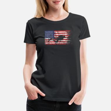 Flags Marines American Flag Scuba Diving Snorkeling Marine Ocean - Women's Premium T-Shirt