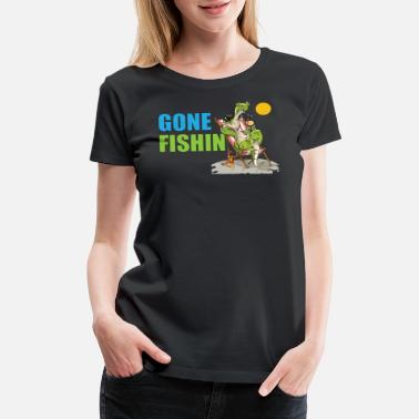 Altona Gone Fishin No 4 - Women's Premium T-Shirt