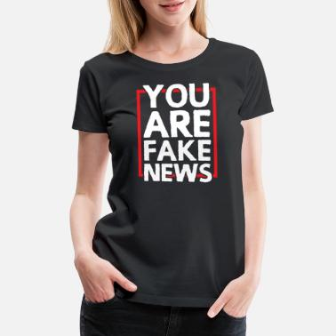 Vlogger Fake News Social Media Blogger Vlogger Funny Gift - Women's Premium T-Shirt