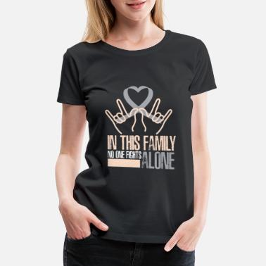 7afb5c40 In this family no one fight diabetes awareness - Women's Premium T