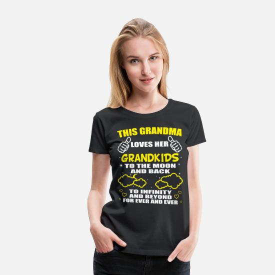 Love T-Shirts - Love My Grandkids To The Moon And Back T-Shirt - Women's Premium T-Shirt black