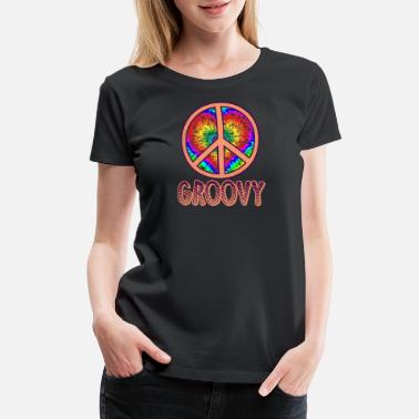 Groovy Disco Groovy Peace Sign Gift - Women's Premium T-Shirt