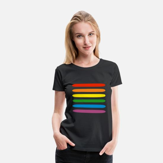 Queer T-Shirts - Rainbow - Women's Premium T-Shirt black
