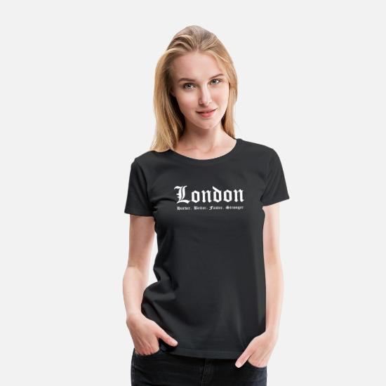 London T-Shirts - London - Women's Premium T-Shirt black