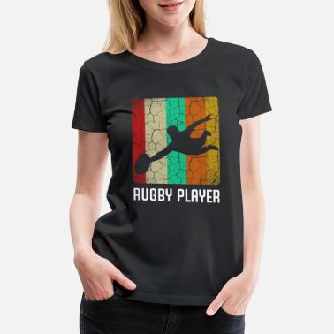 Prop Retro Style Vintage Rugby Player Cool Silhouette - Women's Premium T-Shirt
