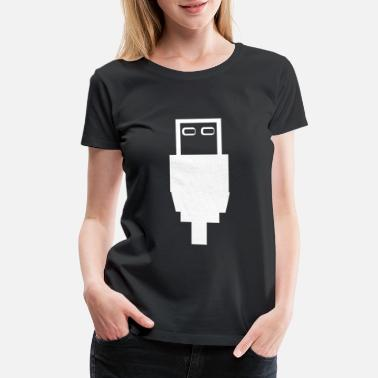 Connector USB port - Women's Premium T-Shirt