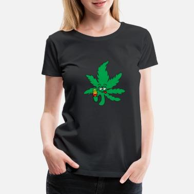 Skunk Hemp Leave Ice Cream print | Dope Marihuana - Women's Premium T-Shirt