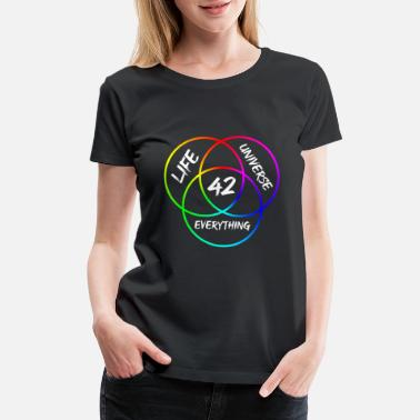 Answer The Answer Is 42 - Answer to Everything - Diagram - Women's Premium T-Shirt