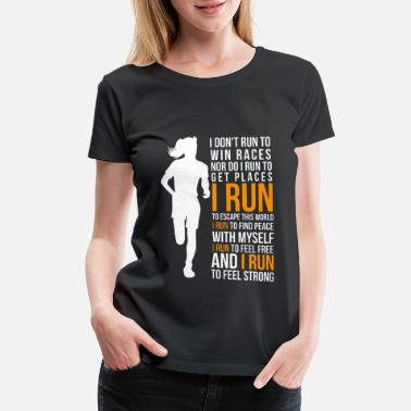 Marathon Run - Women's Premium T-Shirt