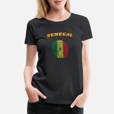 Senegal Senegal fingerprint - Women's Premium T-Shirt
