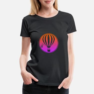 Rain Cloud Hotairballoon - Women's Premium T-Shirt