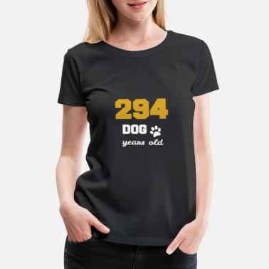 Boxer-dog 42 birthday 294 dog years old Birthday - Women's Premium T-Shirt