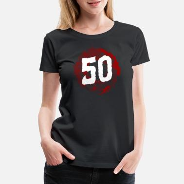 Fiftieth 50th Birthday 50 Years fiftieth fifty Years Old - Women's Premium T-Shirt