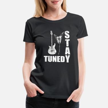 Guitar Christmas stay tuned - Women's Premium T-Shirt