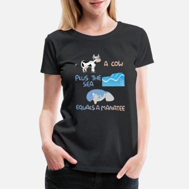Used Funny Manadesign Pun Product A Cow Plus The Sea - Women's Premium T-Shirt