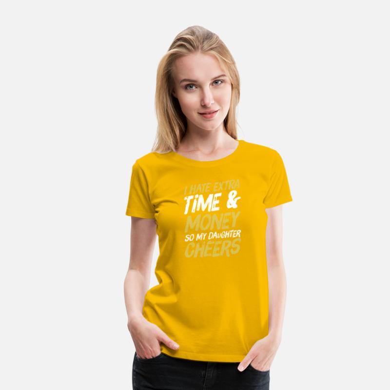 3d9bc6e55997ef Funny Dad Parent of Cheerleader Cheer Team Gift Women s Premium T-Shirt