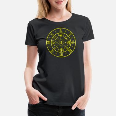 Hexagram Seal of Changes For Raising an Army Hexagram 7 Y/B - Women's Premium T-Shirt