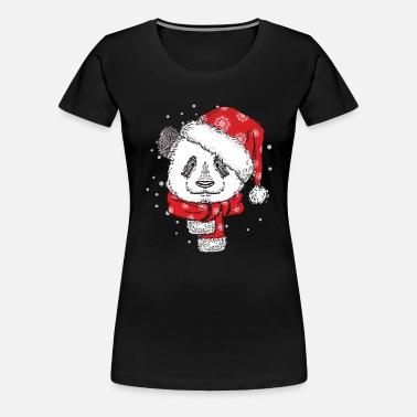 5056b2a06b0 Panda Christmas Sweater Hoodie Tshirt Women s Organic T-Shirt ...
