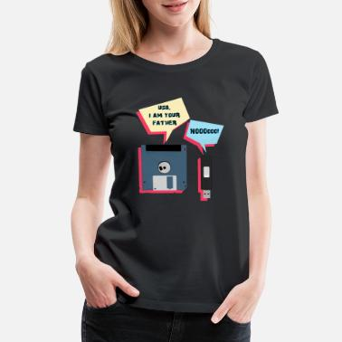 Technology Funny Computer Humor - USB I am your Father - Women's Premium T-Shirt