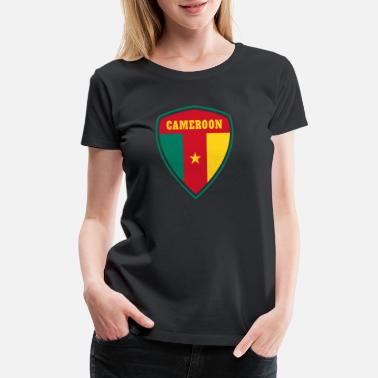 Cameroon Flag Cameroon coat of arms / gift flag Cameroon - Women's Premium T-Shirt
