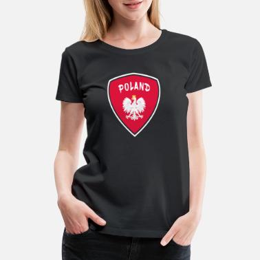 Warsaw Poland Coat of Arms National Colors Eagle Gift - Women's Premium T-Shirt