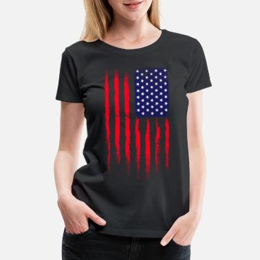 Army Star Military Grunge USA - Women's Premium T-Shirt