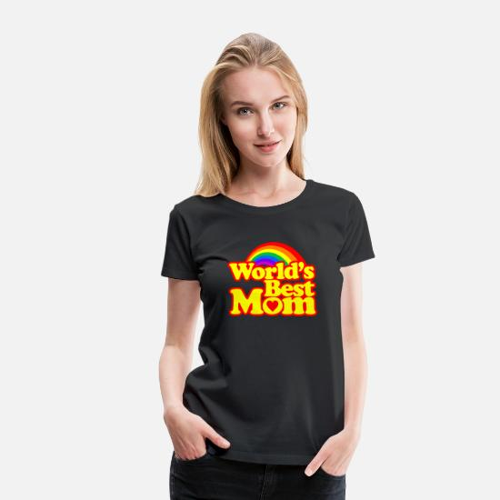 Mother's Day T-Shirts - World's Best Mom - Women's Premium T-Shirt black