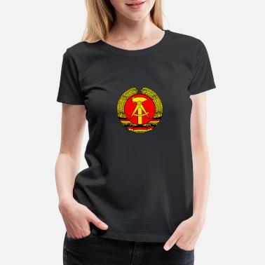 Gdr GDR coat of arms retro east germany wall soviet LO - Women's Premium T-Shirt