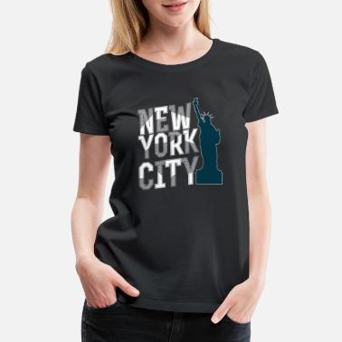 New California Love New York City NYC Statue of Liberty Design - Women's Premium T-Shirt